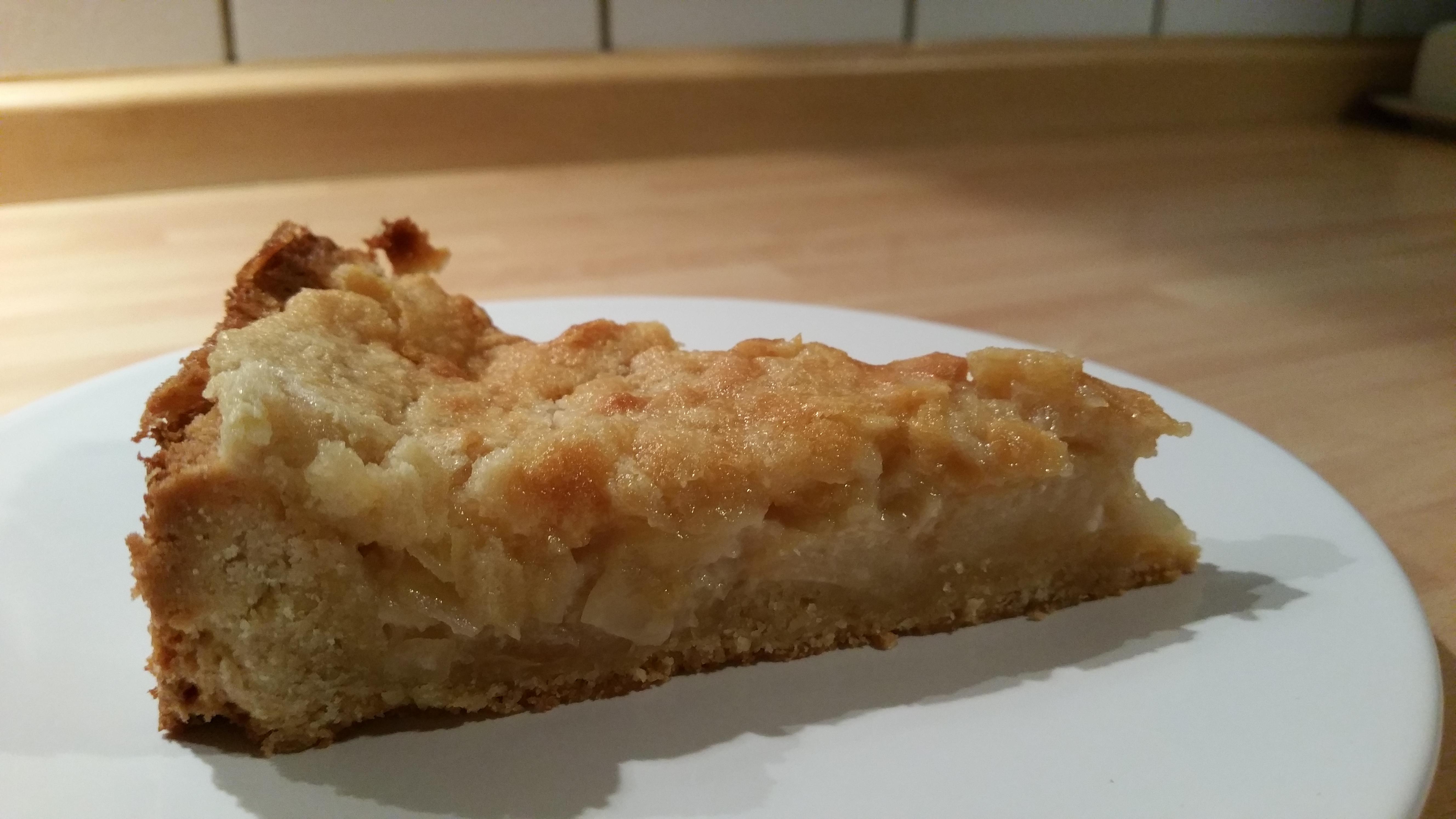 Apfel Marzipan Kuchen 16 Stucke Vegan Und Munter