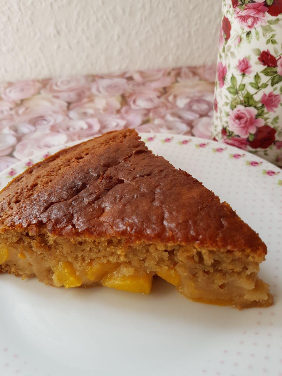 Pfirsich Joghurt Kuchen 12 Stucke Vegan Und Munter