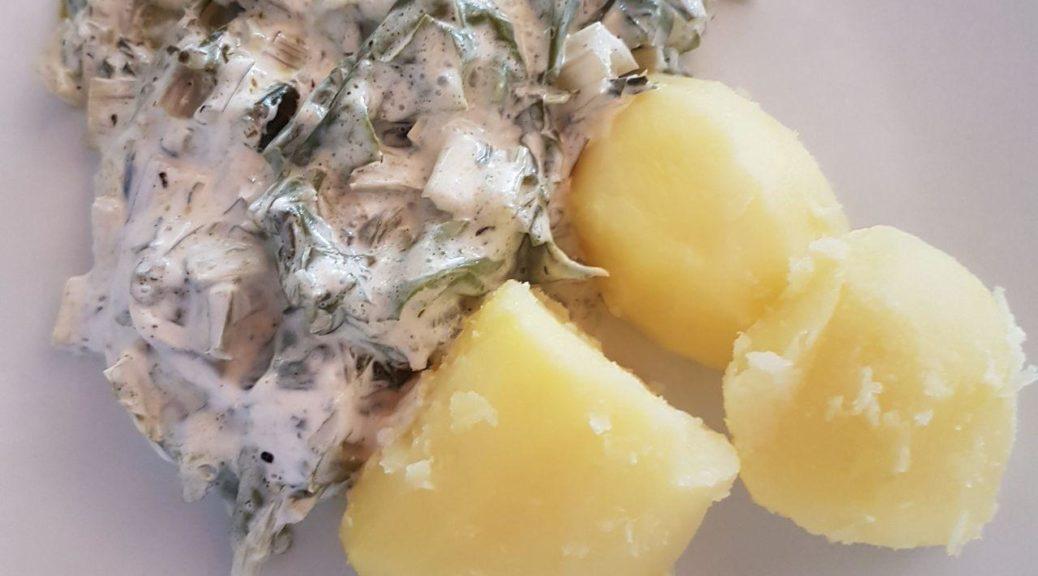 Vegane Sommerküche : Mangold in kräutersoße 2 personen vegan und munter