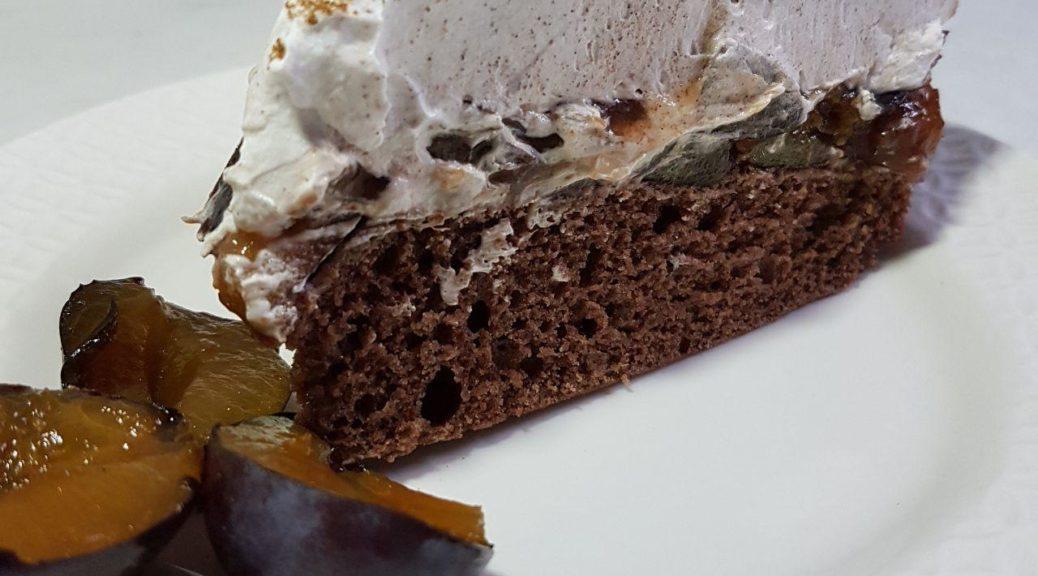 Pflaumenkuchen Mit Schokoboden Und Sahnehaube Vegan Und Munter